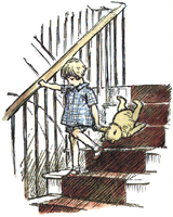 An Illustration  by E.H. Shepard from one of Milne's 'Winnie-the-Pooh' books